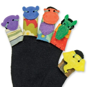 Animal Button Glove Finger Puppets