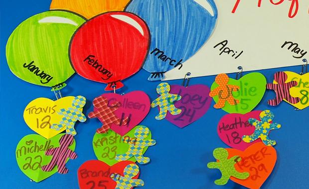 Little People Paper Bits Birthday Chart Roylco
