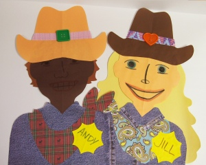 Cowboy People Paper Craft