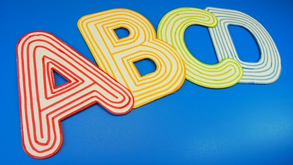 Chipboard Letters Alphabet Tracing