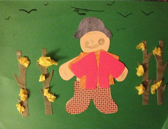 Paper scarecrows 1