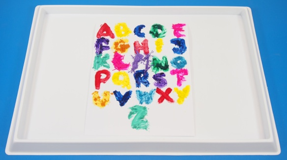 Sensory Finger Paint Alphabet