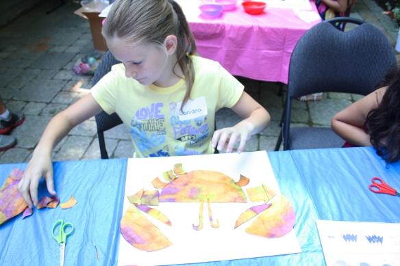 paste colorful shapes