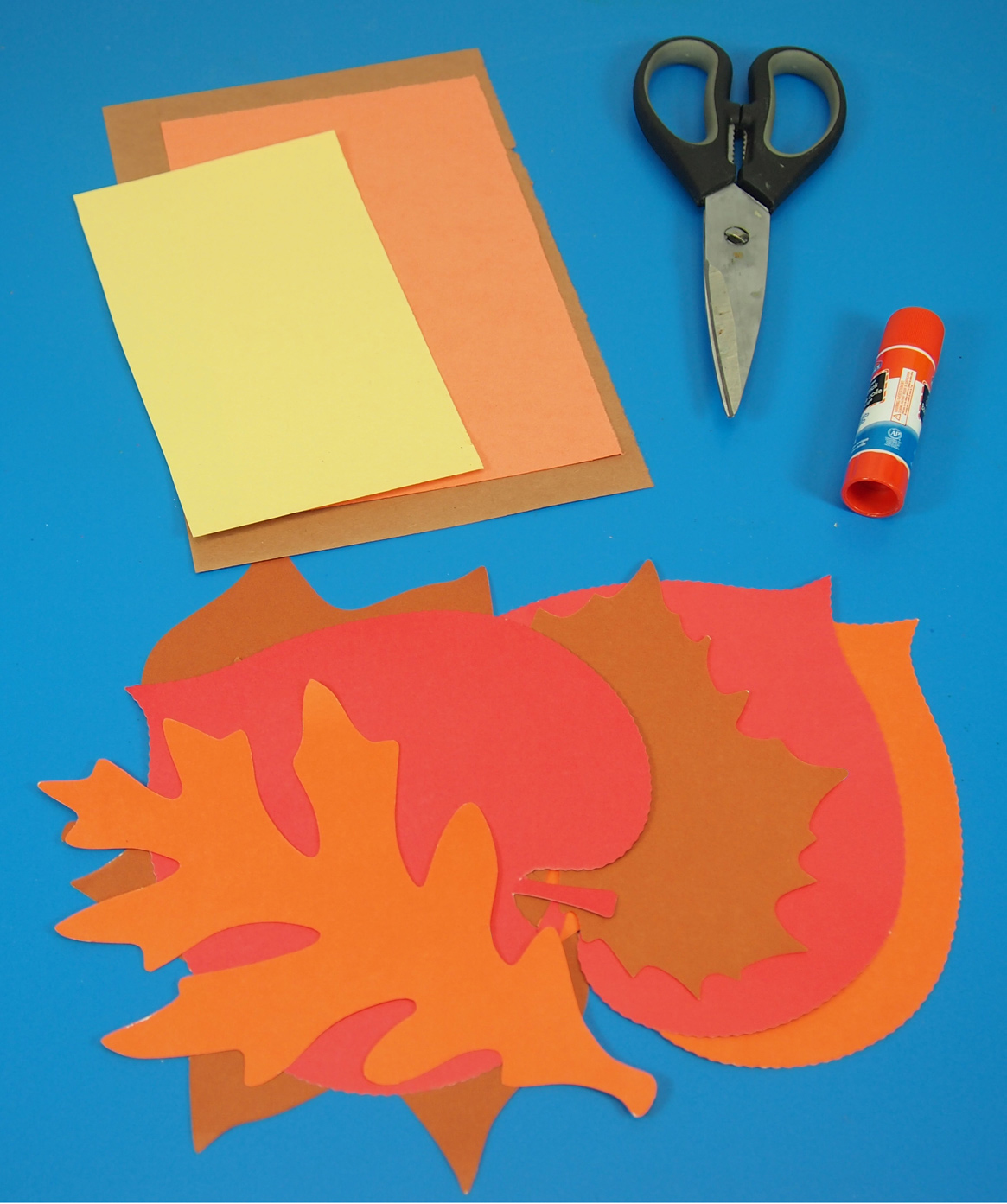 craft spotlight: project leaves with a thanksgiving turkey project