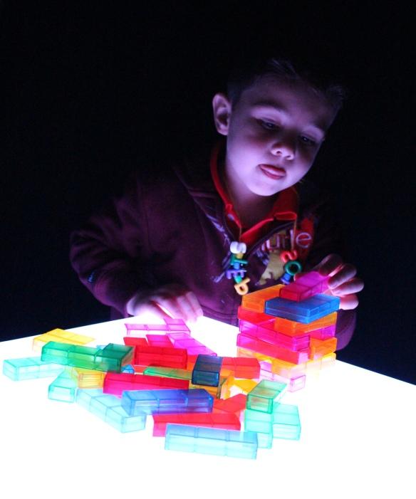 light cube blocks