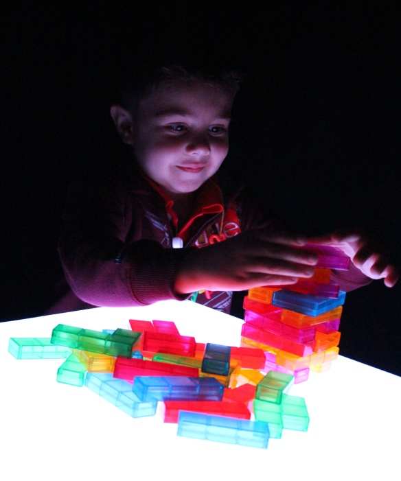 light cube blocks