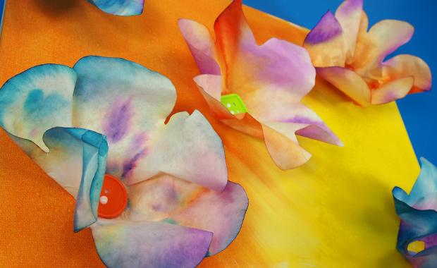 Wall Art Diy Color Diffusing Flowers