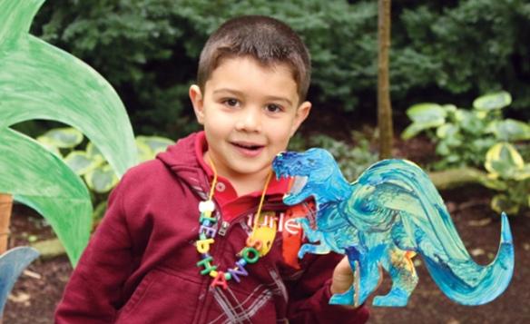 collage a saurus dinosaur craft