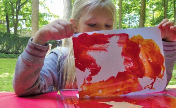 paint pad leaf printing