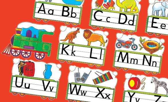 alphabet train poster