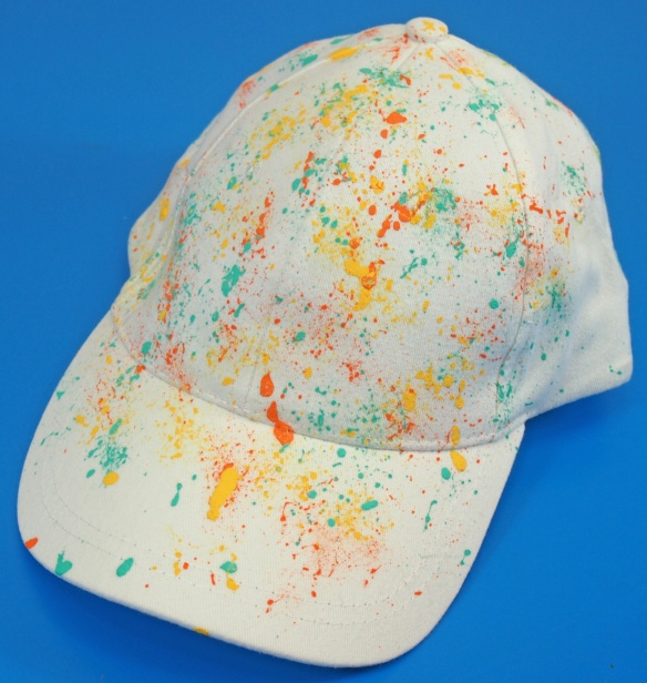 paint splatter art hat bellows