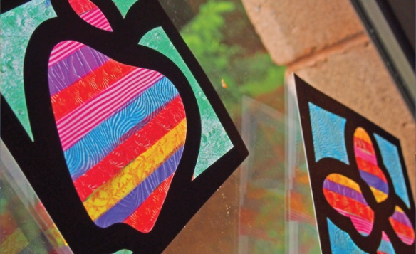 striped stained glass frames