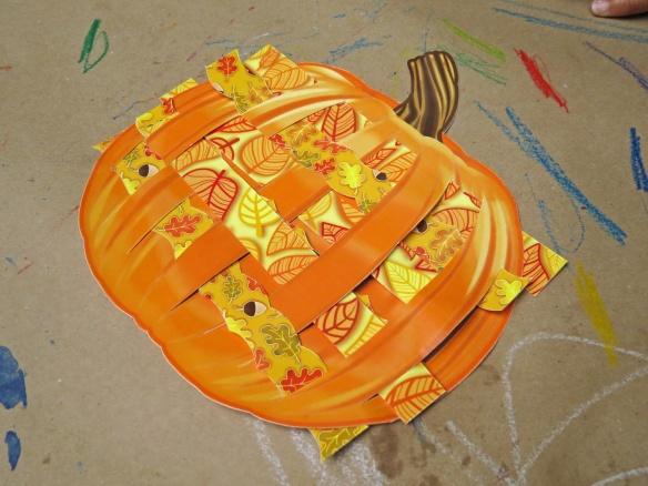 jack o lantern weaving mats