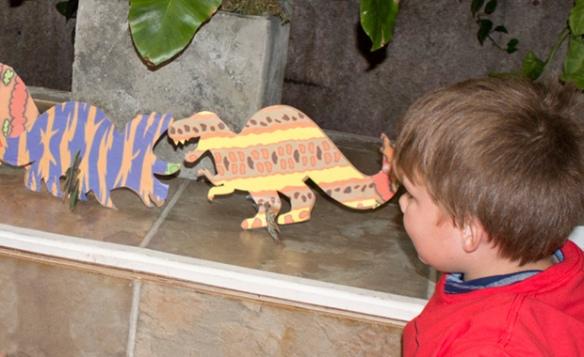 collage a saurus dinosaur paper