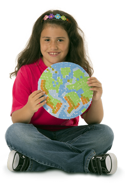 15666 Earth Tone Mosaics girl web