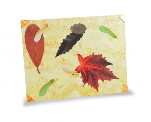 15401 Marble paper - Yellow Leaves