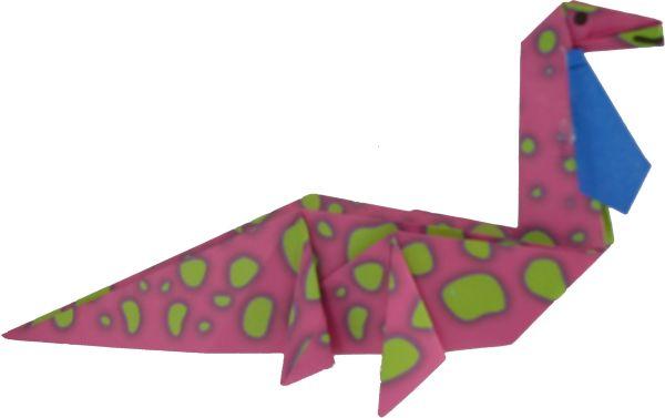 Origami Dinosaurs fabric by abbyg on Spoonflower - custom fabric ... | 378x600