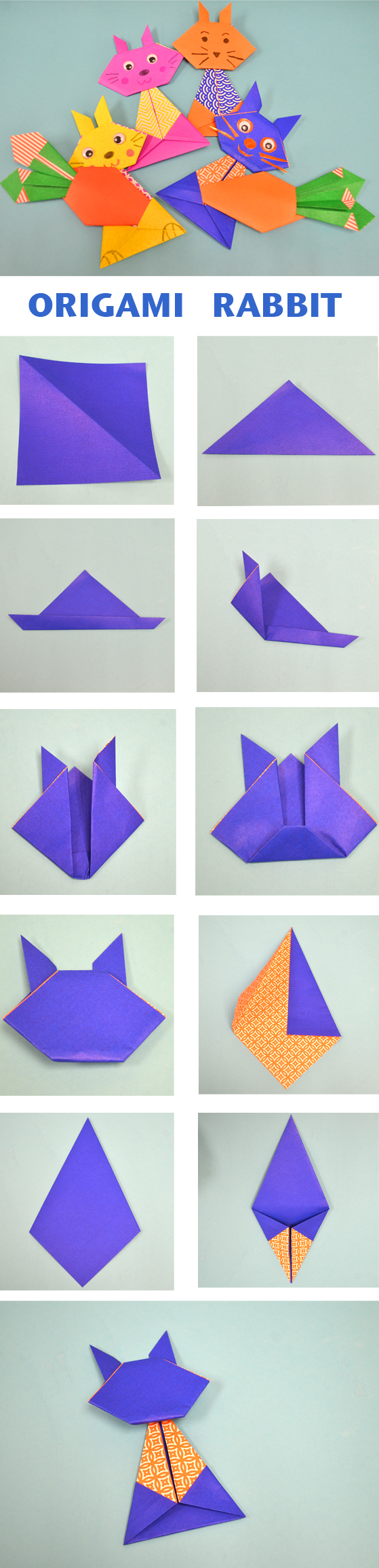 Origami Challenge: Paper Rabbit (inspired by To the Moon) | 2311x559