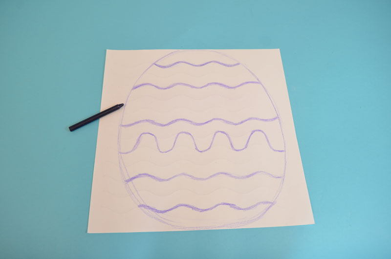 You Can Color The Wavy Lines On Paper And It Will Divide Egg Into Different Sections Make These As Bold Like